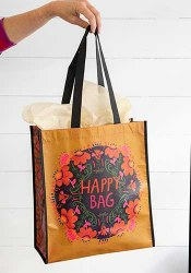 Happy Bag Floral Mustard/Pink