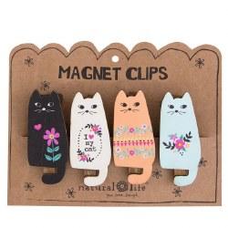Magnet Clip Set/4 Cats