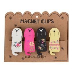 Magnet Clip Set/4 Dogs