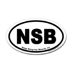 NSB Sticker Blk/Wht 4X6 Oval