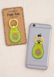 Phone Ring Enamel Avocado