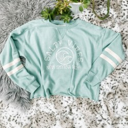 Crewneck Salty Vibes Mint L