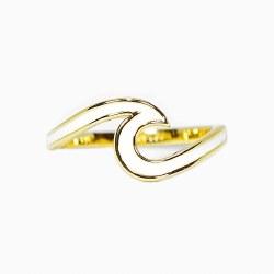 Ring Wave Gold Enameled Sz 5