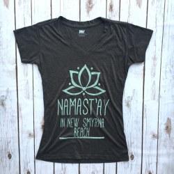V-Neck T Namastay NSB Char Sm