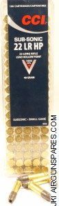 .22LR CCI Subsonic HP (100)
