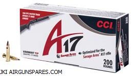 CCI A17 .17HMR Varmint 17gr