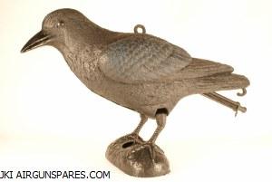 Plastic Crow Decoy Stake+Feet