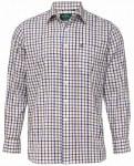 "Ilkley Shirt Brown Check 15.5"""