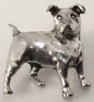 Pewter Brooch - Terrier