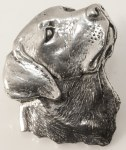 Pewter Brooch - Labrador Head