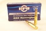 PPU .222 55gr FMJ BT