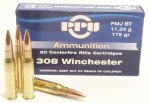 PPU .308 Winchester 175gr FMJ