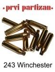 PPU Brass Cases .243 x100