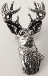 Pewter Brooch - Stags Head