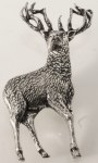 Pewter Brooch - Standing Stag