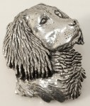 Pewter Brooch - Spaniel Head