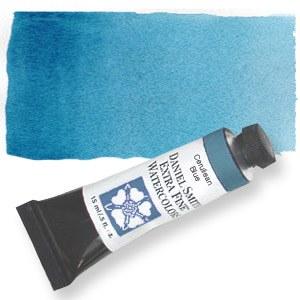 Daniel Smith Extra Fine Watercolor 15ml Cerulean Blue, Chromium