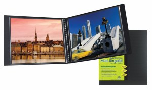 Itoya Art Profolio Multi-Ring Mini Refillable Binder 17x11 Landscape HRM-17-11