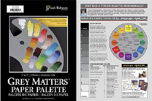 Jack Richeson Grey Matters Paper Palette Pad 12x16