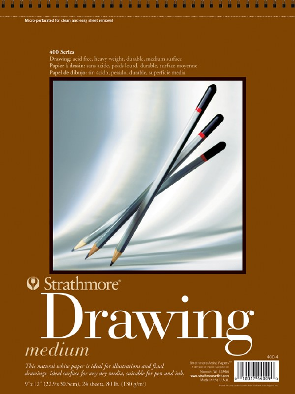 6x8 Wire Bound Strathmore 400 Series Colored Pencil Pad 30 Sheets