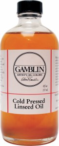 Gamblin Cold Pressed Linseed Oil 8oz
