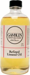 Gamblin Refined Linseed Oil 8oz