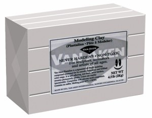Van Aken Plastalina Modeling Clay 4.5lb. Sculpture Gray