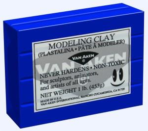 Van Aken Plastalina Modeling Clay 1lb. Ultra Blue