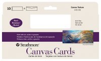 Strathmore Canvas Cards 3.875x9 10pk