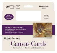 Strathmore Canvas Cards 5x6.875 10pk