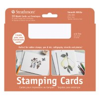Strathmore Stamping Cards Bright White 3.5x5 10pk
