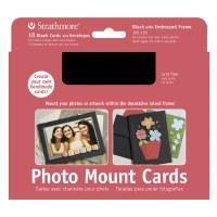Strathmore Photo Mount Cards Black w/ Embossed Border 5x7 10pk