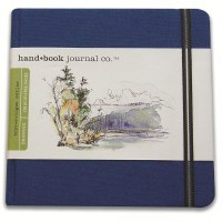 Hand Book Travelogue Journal Square Ultramarine Blue 5.5x5.5
