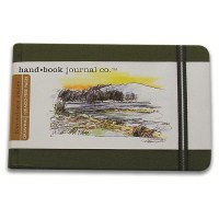 Hand Book Travelogue Journal Landscape Cadmium Green 8.25x5.5
