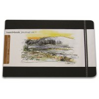 Hand Book Travelogue Journal Landscape Ivory Black 8.25x5.5