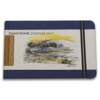 Hand Book Travelogue Journal Landscape Ultramarine Blue 8.25x5.5