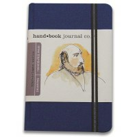 Hand Book Travelogue Journal Portrait Ultramarine Blue 5.5x8.2
