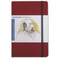 Hand Book Travelogue Journal Portrait Vermillion Red 5.5x8.2