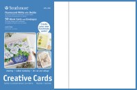 Strathmore Creative Cards Fluorescent White w/Deckle 5x7 50pk