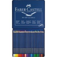 Faber-Castell ART GRIP AQUARELLE 24 Tin Set