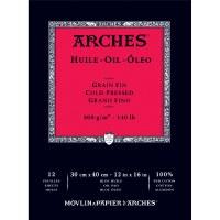 Arches 140lb Oil Paper Pad 12x16 12 sheets