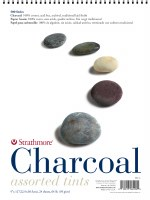 Strathmore 500 Series Charcoal Paper Pad 12x18-Assorted Colors