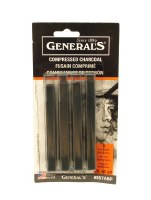 General's Assorted Compressed Black Charcoal Sticks 4pk