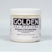 Golden Gel Topcoat with UVLS Semi-Gloss 16oz