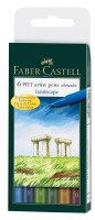 Faber-Castell Pitt Artist Pens Set of 6 Brush Tips: Landscape