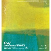 Fluid Hot Press Watercolor Block 12x12 15 sheets