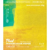 Fluid Hot Press Watercolor Block 6x6 15 sheets