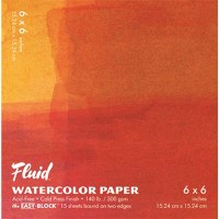 Fluid Cold Press Watercolor Block 6x6 15 sheets