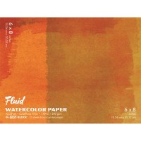 Fluid Cold Press Watercolor Block 6x8 15 sheets