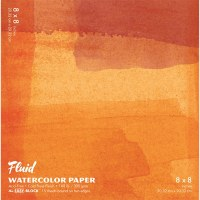 Fluid Cold Press Watercolor Block 8x8 15 sheets